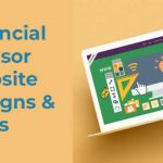 laptop showing financial advisor website ideas