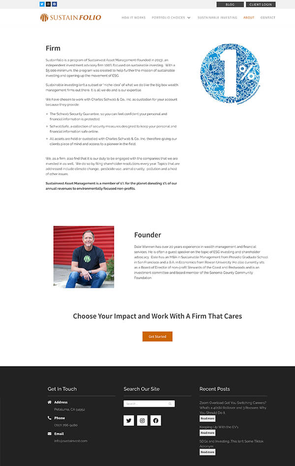 Advisor Designs' Website Redesign Case Study About Us page